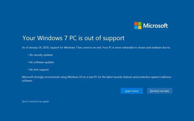일반 번역가 H의 컴퓨터를 부수기 전에  Windows 7 지원이 종료되었습니다